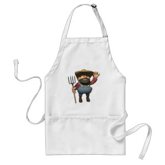 farmer is here adult apron