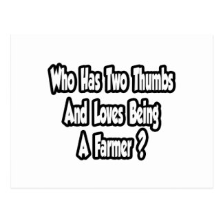 Farmer Joke...Two Thumbs...This Guy Postcard