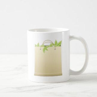 Farmer Market Bag ~ Vegetable Greens Template Classic White Coffee Mug