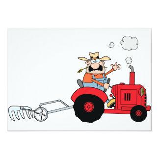 Farmer On A Tractor Invitations