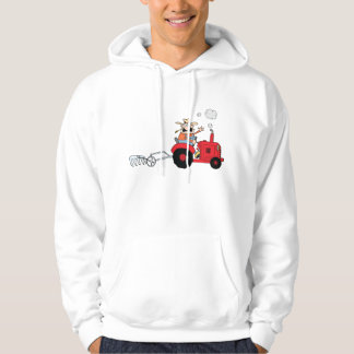 Farmer On A Tractor Mens Hoodie