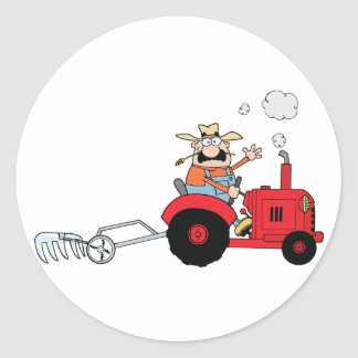 Farmer On A Tractor Stickers