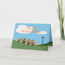Farmer on Tractor Birthday Card
