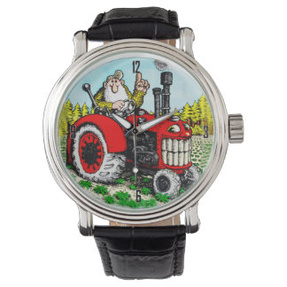 FARMER ON TRACTOR WRIST WATCH