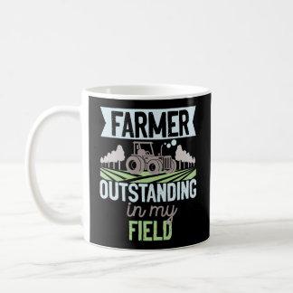 Farmer Outstanding In My Field Tractor Coffee Mug
