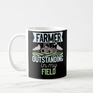 Farmer Outstanding In My Field Tractor Life Coffee Mug