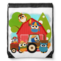 Farmer Owls Drawstring Bag