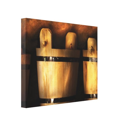Farmer - Pails for sale Gallery Wrapped Canvas