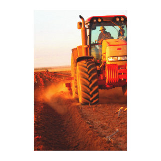 Farmer Planting Maize Using Tractor, Vaalkop 2 Canvas Print