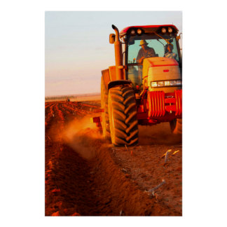 Farmer Planting Maize Using Tractor, Vaalkop 2 Poster