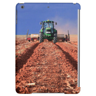 Farmer Planting Maize Using Tractor, Vaalkop iPad Air Cases