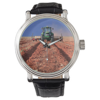 Farmer Planting Maize Using Tractor, Vaalkop Wristwatch