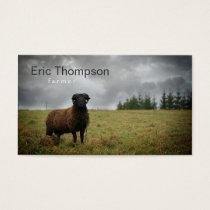 Farmer Ram Black Sheep Business Card