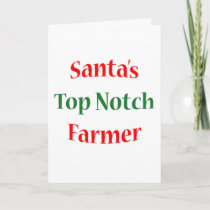 Farmer Top Notch Holiday Card