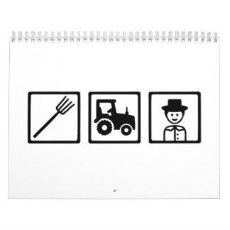 Farmer tractor tools calendar