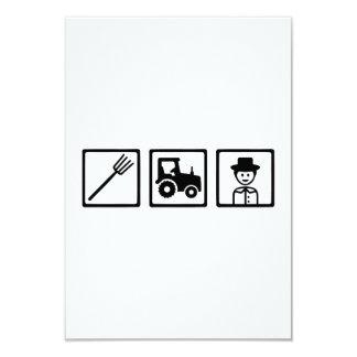 Farmer tractor tools 3.5x5 paper invitation card