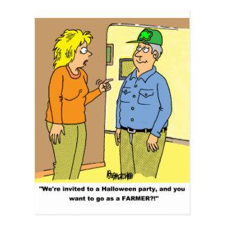 FARMER WIFE & HUSBAND POSTCARD