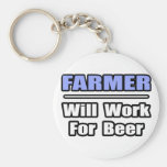 Farmer...Will Work For Beer Key Chains