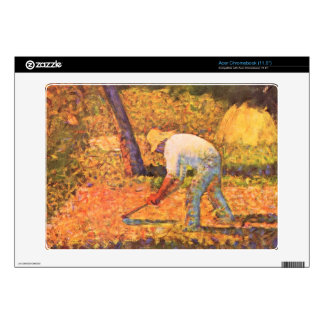 Farmer with hoe by Georges Seurat Acer Chromebook Decal