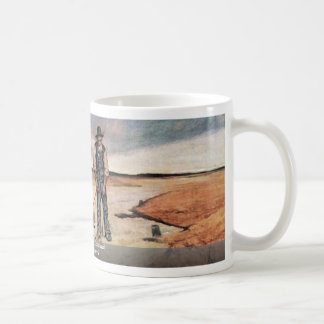 Farmer With Horse Collapsed By Fattori Giovanni Classic White Coffee Mug