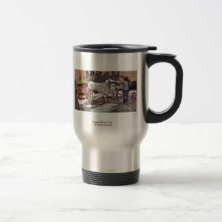 Farmer With Ox-Carts By Fattori Giovanni 15 Oz Stainless Steel Travel Mug