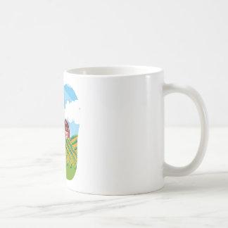 Farmer working in the farmland coffee mug