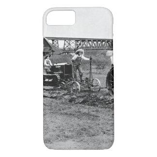 Farmerettes guiding tractors._War image iPhone 8/7 Case
