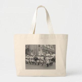 Farmerettes Sell WW1 Bonds, 1910s Large Tote Bag