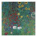 Farmergarden Sunflower, Klimt, Vintage Flowers Personalized Announcement