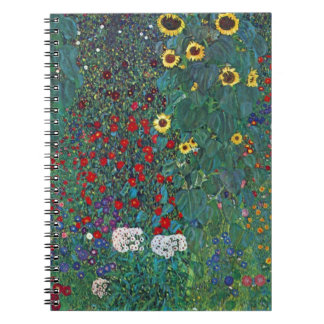 Farmergarden Sunflower Klimt Vintage Flowers Note Book