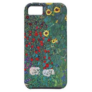 Farmergarden w Sunflower by Klimt, Vintage Flowers iPhone 5 Case