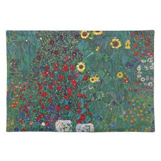 Farmergarden w Sunflower by Klimt, Vintage Flowers Cloth Placemat