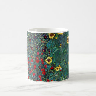 Farmergarden w Sunflower by Klimt, Vintage Flowers Coffee Mug