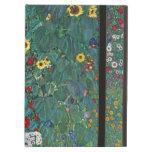 Farmergarden w Sunflower by Klimt, Vintage Flowers iPad Air Cover
