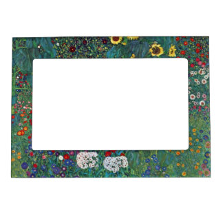 Farmergarden w Sunflower by Klimt, Vintage Flowers Magnetic Frame