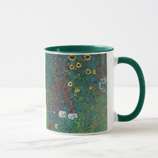Farmergarden w Sunflower by Klimt, Vintage Flowers Mug