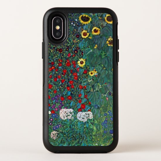Farmergarden w Sunflower by Klimt, Vintage Flowers OtterBox Symmetry iPhone X Case