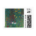 Farmergarden w Sunflower by Klimt, Vintage Flowers Stamp
