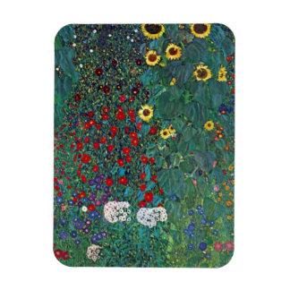 Farmergarden w Sunflower by Klimt, Vintage Flowers Magnets