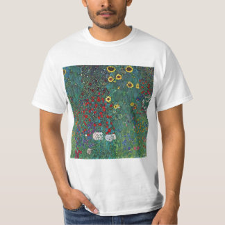 Farmergarden w Sunflower by Klimt, Vintage Flowers T-Shirt