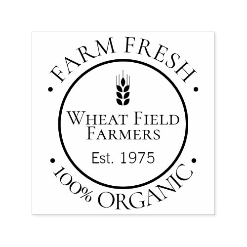 Farmers 100 Percent Organic Food personalized Self_inking Stamp