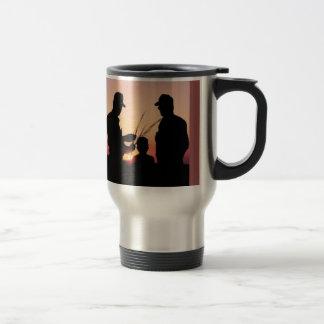 Farmers and Sunset Travel Mug