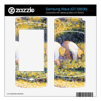 Farmers at work by Georges Seurat Samsung Wave Skin