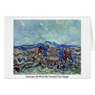 Farmers At Work By Vincent Van Gogh Greeting Cards