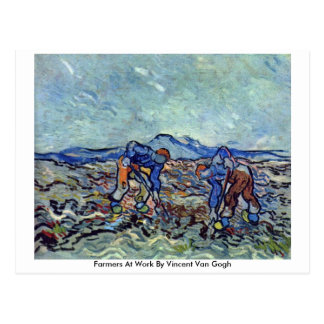 Farmers At Work By Vincent Van Gogh Post Cards
