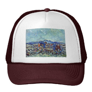 Farmers At Work By Vincent Van Gogh Trucker Hat