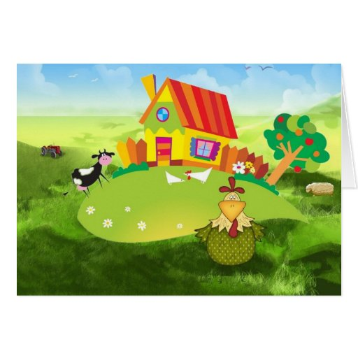 Farmers Chick Greeting Card