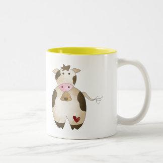 Farmers Cow Two-Tone Coffee Mug
