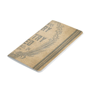 Farmers Dairy Poultry Feed Sack Burlap Journal
