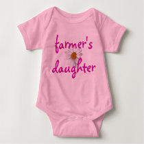 Farmer's daughter, baby, infant baby bodysuit